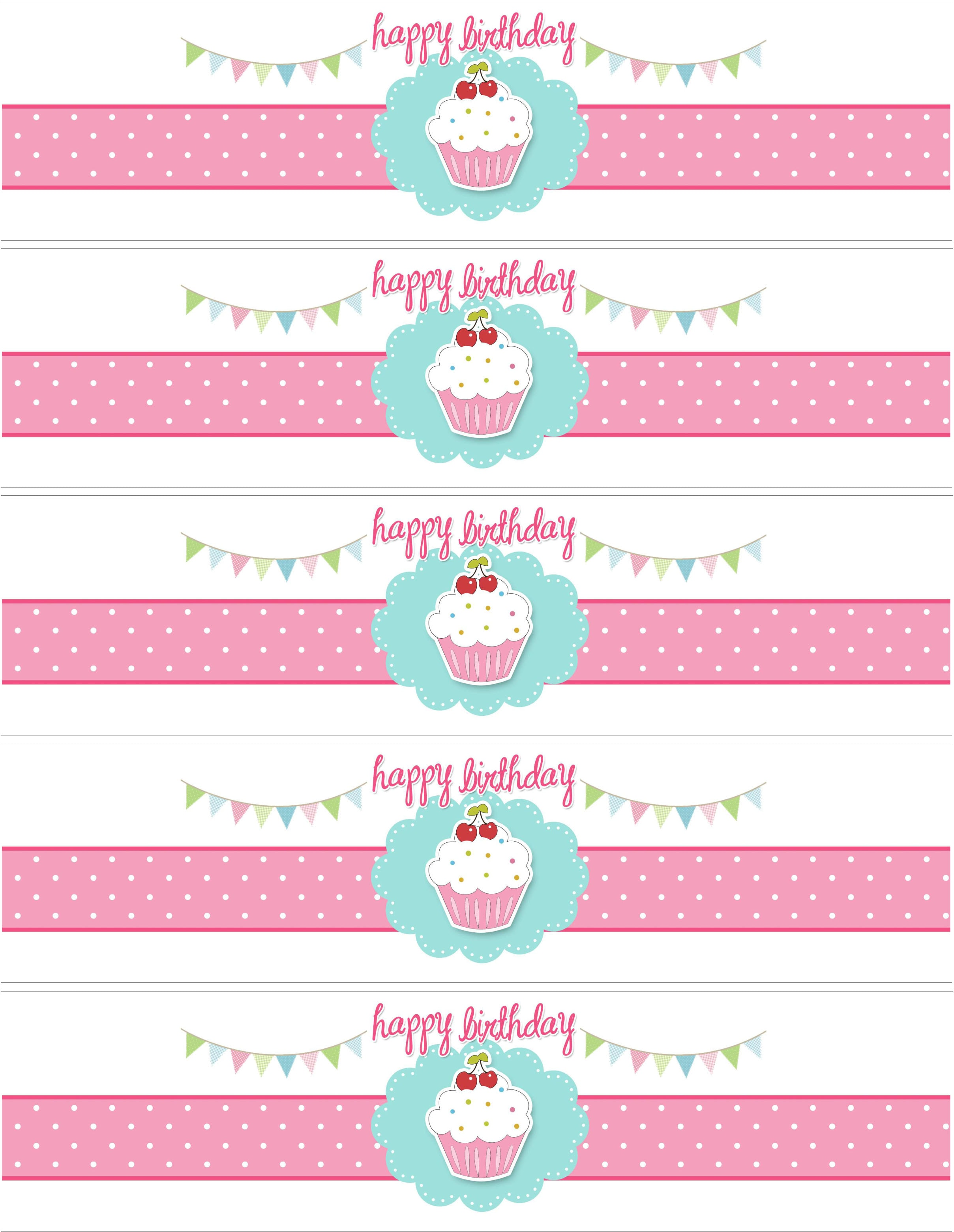 Cupcake birthday party with free printables how to nest for Baby food jar label template