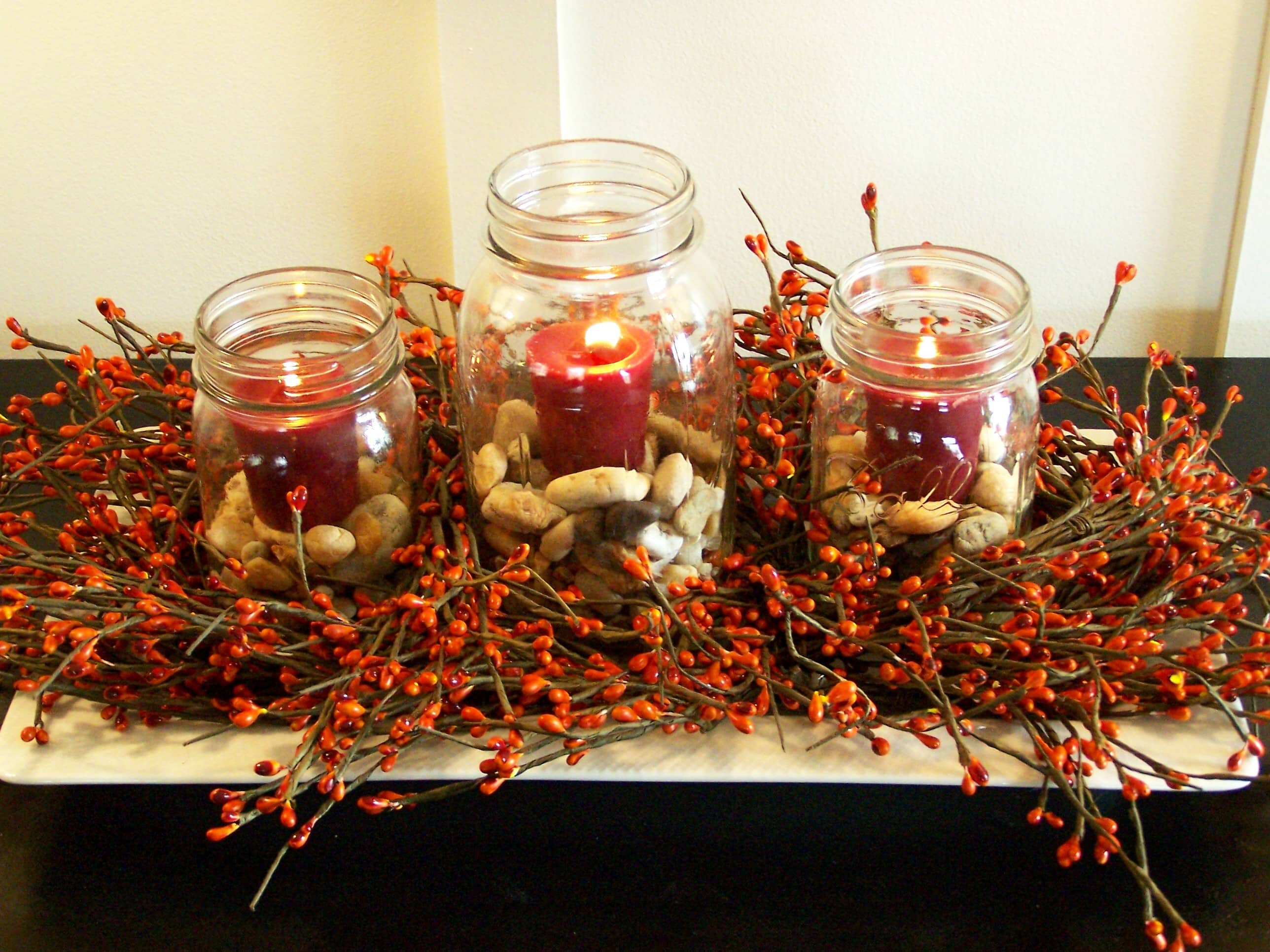 Get inspired 10 fall centerpieces how to nest for less for Pictures of fall table decorations