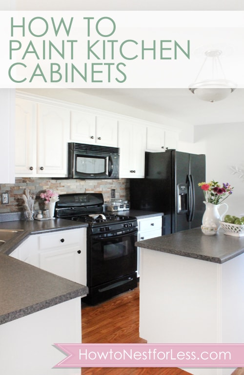 How to paint your kitchen cabinets how to nest for less - How to glaze kitchen cabinets that are painted ...