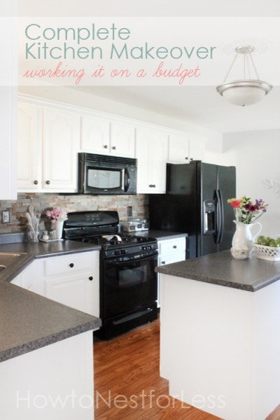 diy kitchen makeover on a budget diy by design fall into fall it s a 90 9597