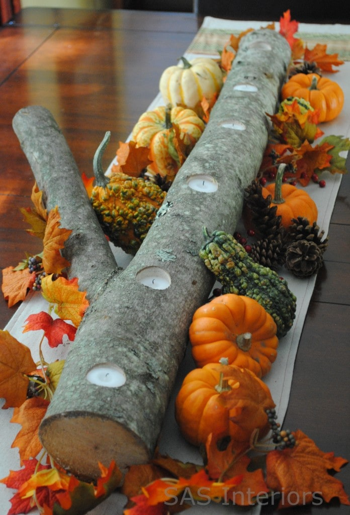 Easy Diy Fall Table Decorations This Hurricane Lamp Popcorn Fall