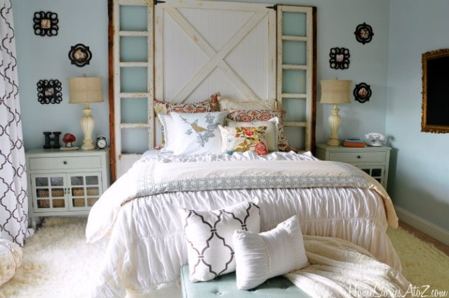 Shabby chic bedroom  makeover from Home Stories AtoZ