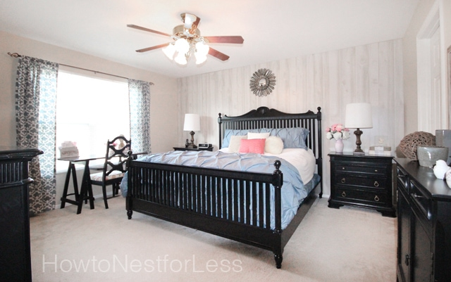 Master Bedroom Makeover from How to Nest for Less (me)