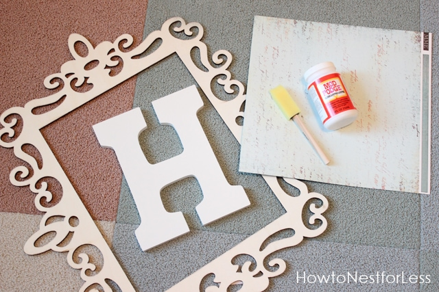 Monogram Wall Decor Supplies