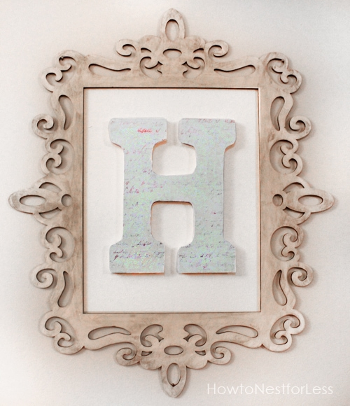 Monogram Wall Art - How to Nest for Less™