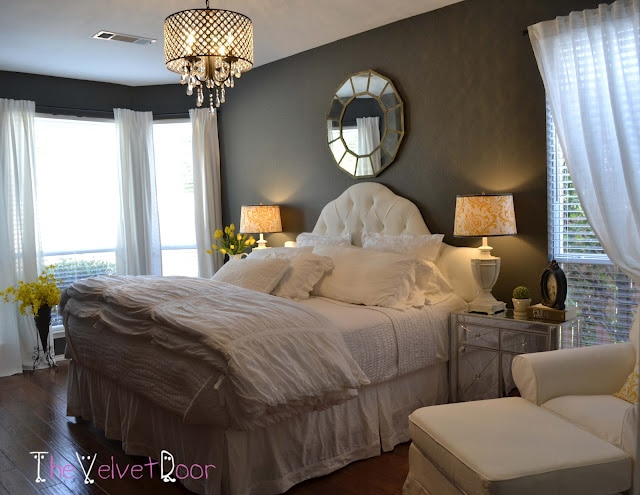 romantic bedroom makeover from the velvet door