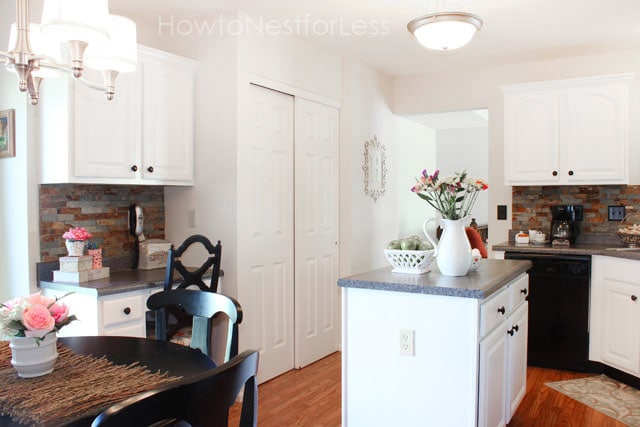 white kitchen cabinet makeover