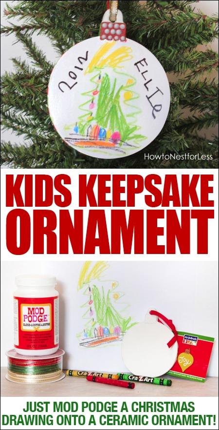 Kids keepsake ornament poster.