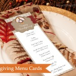 Thanksgiving menu cards free printable
