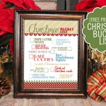 Christmas Bucket List {free printable}