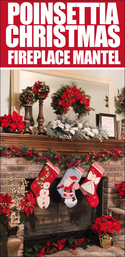 christmas-fireplace-mantel-poinsettia