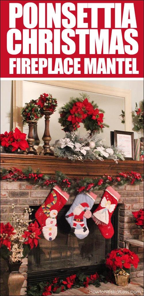 christmas-fireplace-mantel-poinsettia
