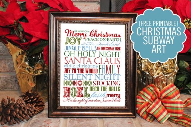 Christmas Subway Art Free Printable.Christmas Subway Art How To Nest For Less