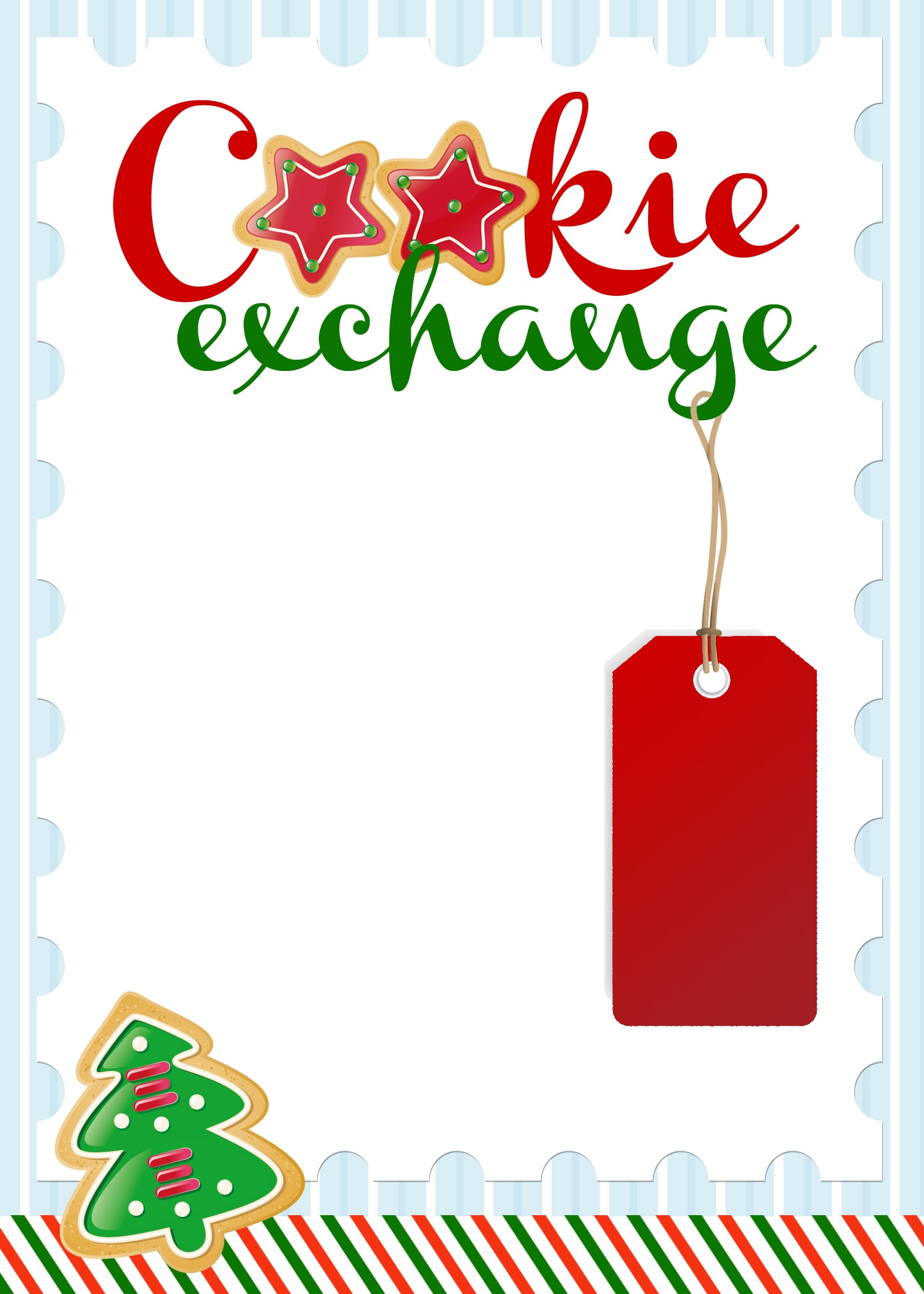 Https://howtonestforless.com/wp Content/uploads/2012/11/cookie Exchange  Invitation  Free Template For Party Invitation