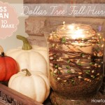5 Minute Fall Hurricane Centerpiece {on the cheap}