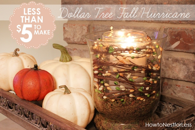 5 Minute Fall Hurricane Centerpiece On The Cheap How