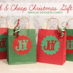 Quick & Easy Christmas Gift Bags {using my Silhouette Cameo}