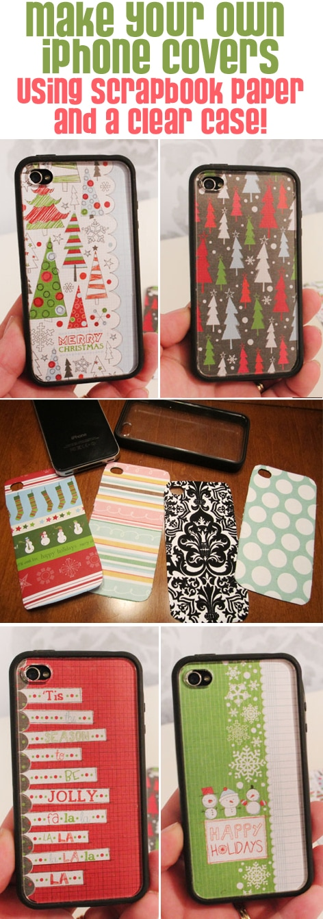 holiday scrapbook paper iphone covers