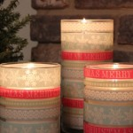 washi tape christmas candles