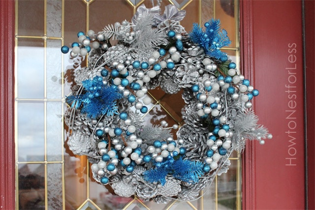 WINTER pinecone wreath