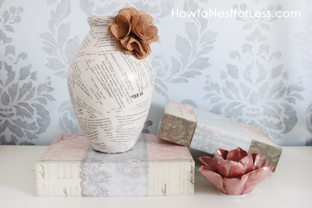 book-pages-burlap-flower-vase