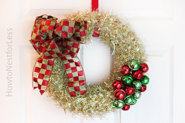 christmas jingle bells wreath