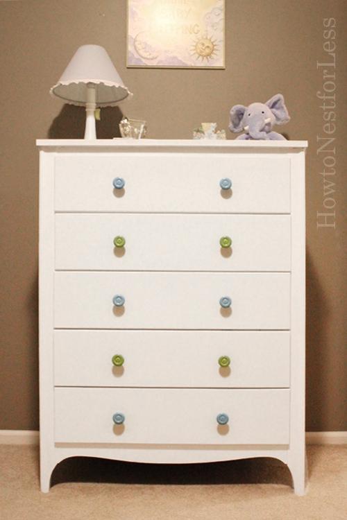 dutch boy painted 5 drawer chest