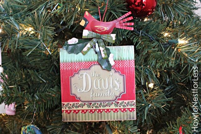 Handmade Christmas Ornament {for an ornament exchange}