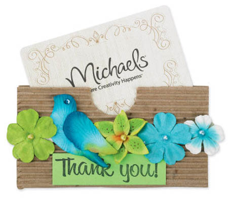 michaels thank you gift card