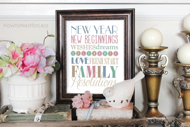 new year subway art printable