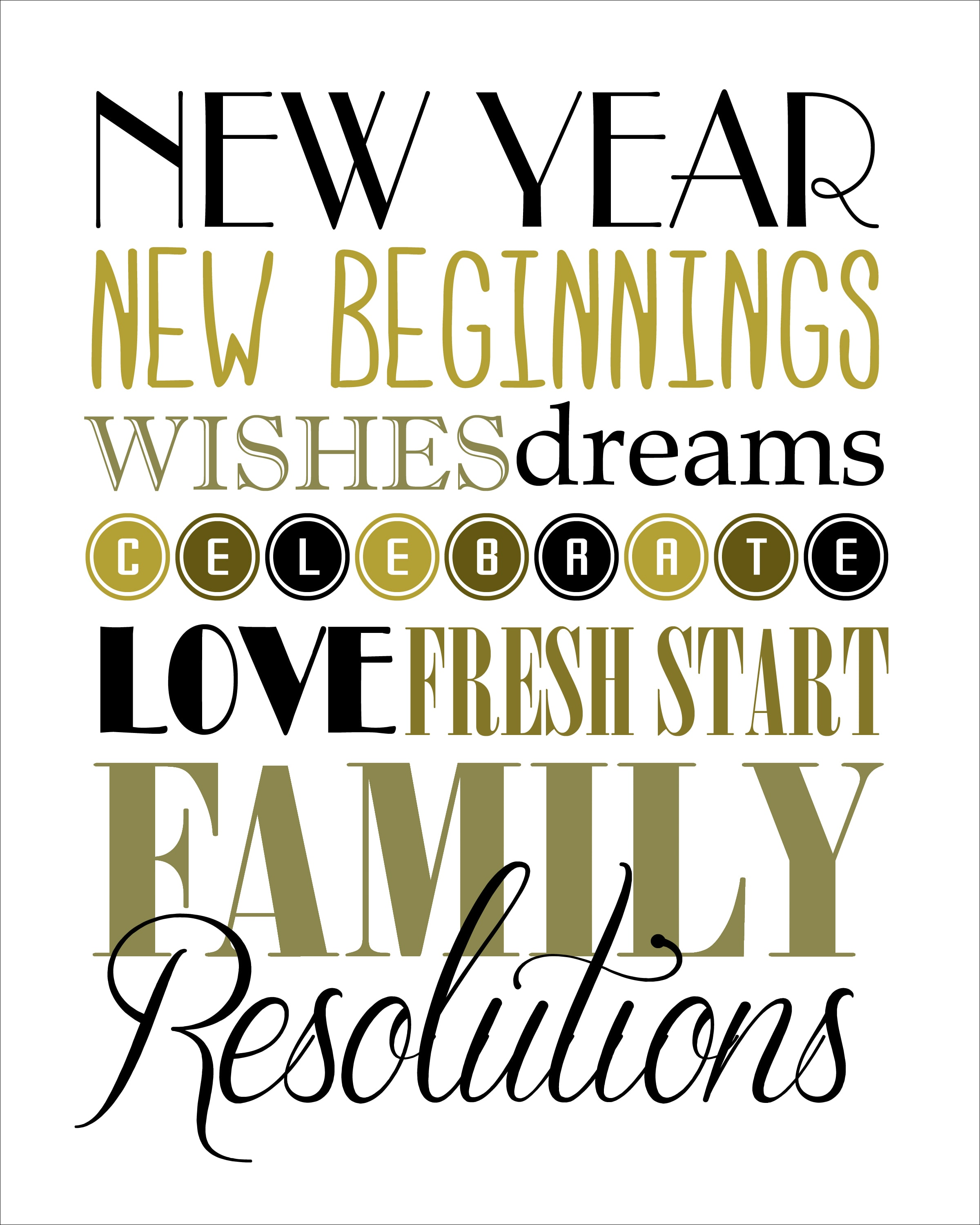 Obsessed image within happy new year printable