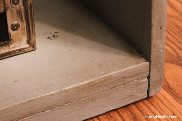 ASCP paris gray painted bookshelf