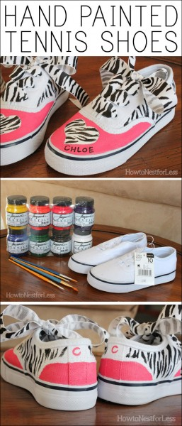 HAND PAINTED TENNIS SHOES graphic.