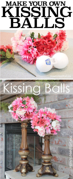 MAKE YOUR OWN KISSING BALLS
