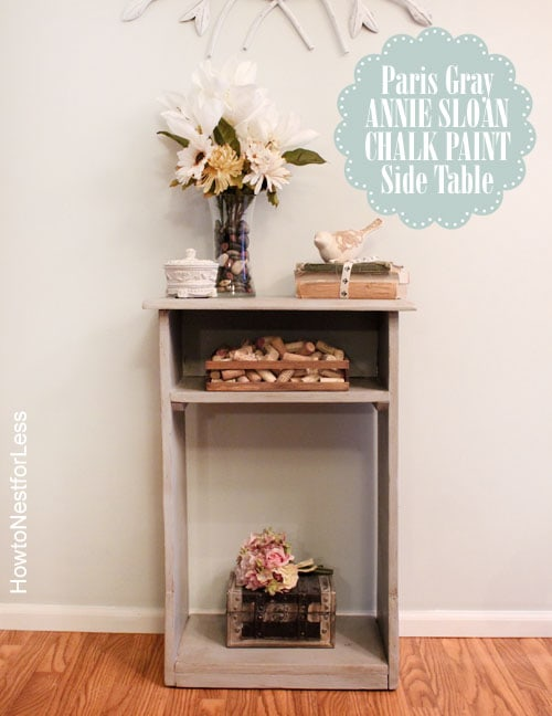 annie sloan chalk paint side table