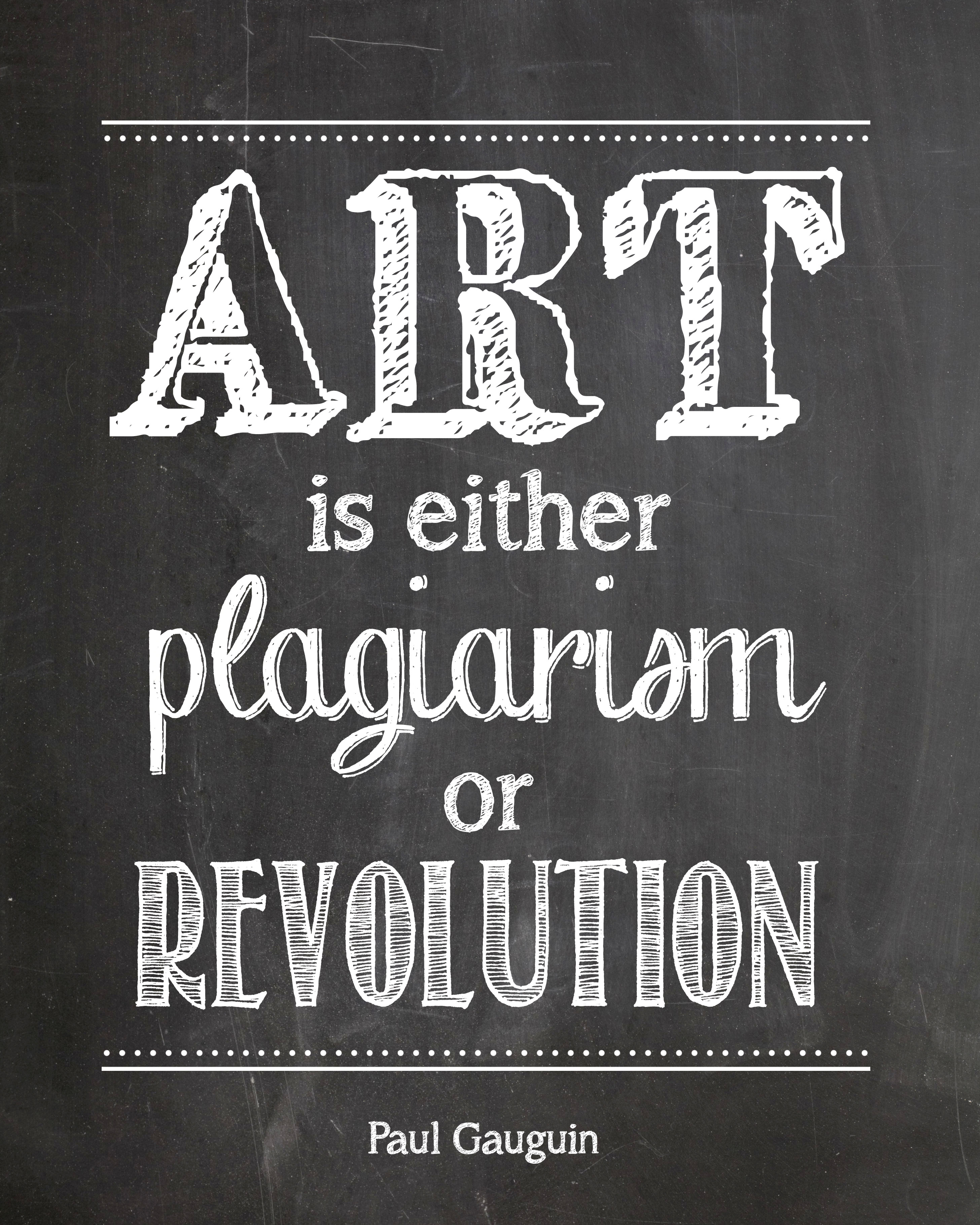 art is plagairism printable