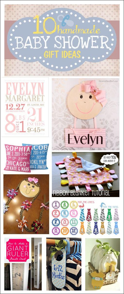 Baby Shower Gift Ideas On Pinterest : Handmade baby shower gift ideas how to nest for less