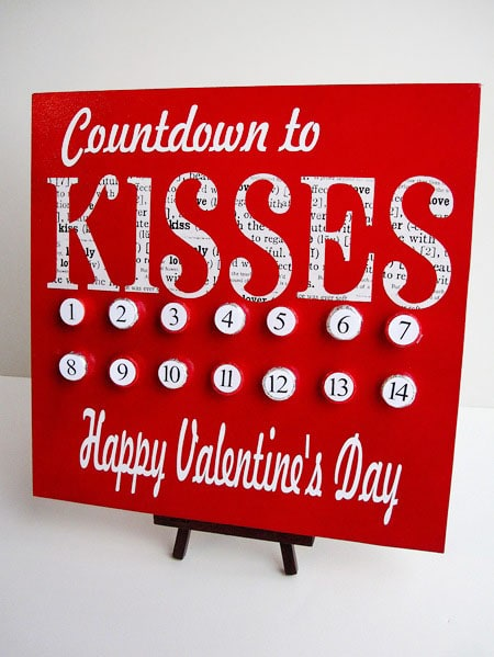 countdown to kisses calendar