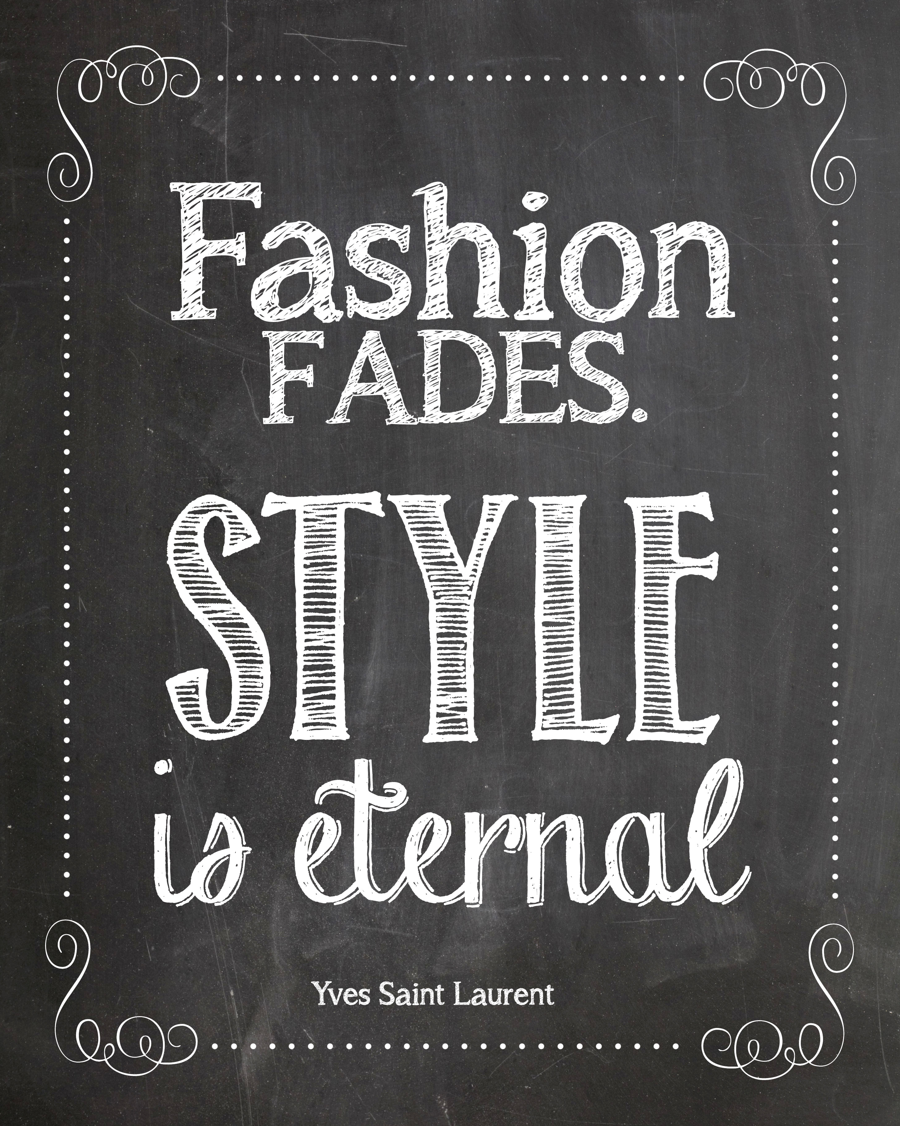 fashion fades YSL printable