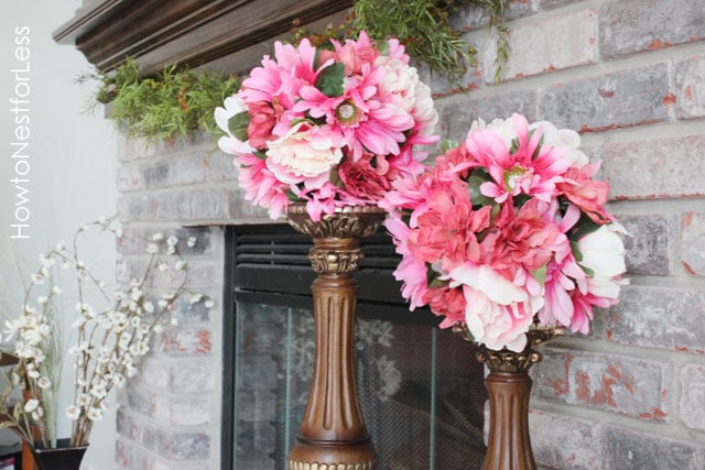 flowered kissing balls