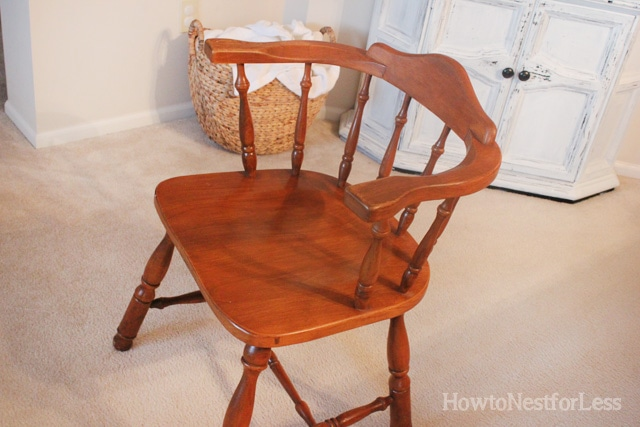 goodwill chair for maison blanche makeover