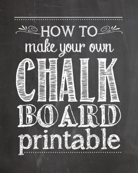 photograph relating to How to Create a Printable called How toward Create Your Private Chalkboard Printables - How Towards Nest For