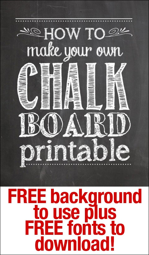 image regarding Printable Fonts for Signs identify How in direction of Generate Your Personalized Chalkboard Printables - How In the direction of Nest For