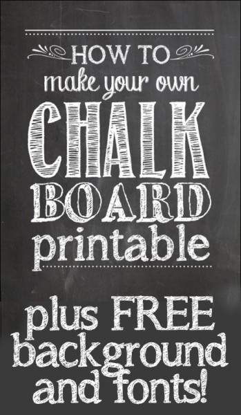 How To Make Your Own Chalkboard Printables How To Nest For Less