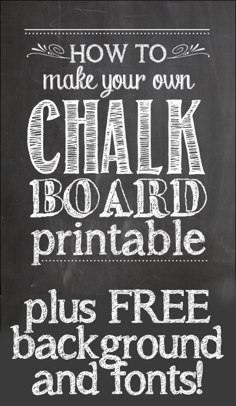 How To Make Your Own Chalkboard Printables Nest