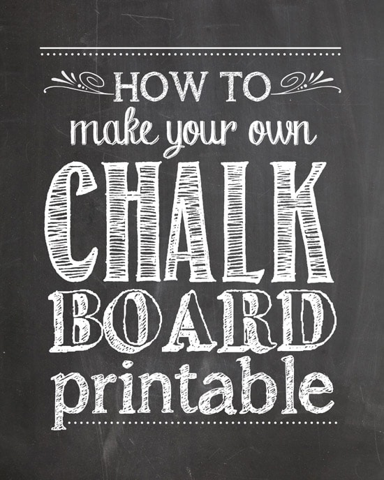 How To Make Chalkboard Printables