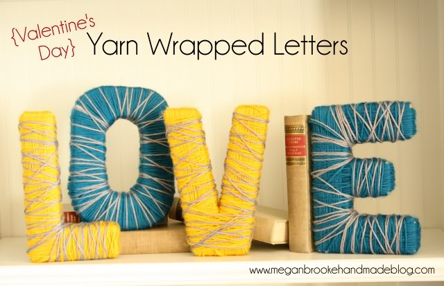 love yarn wrapped letters