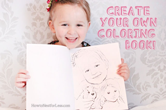 Make your own coloring book with family photos how to for How to make a coloring book page in photoshop