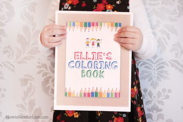 make your own kids coloring book