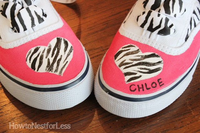 painted girls tennis shoes